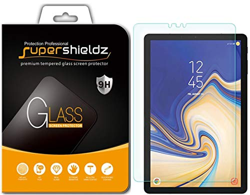 Supershieldz for Samsung Galaxy Tab S4 (10.5 inch) Tempered Glass Screen Protector, Anti-Scratch, Anti-Fingerprint, Bubble Free, Lifetime Replacement Warranty