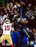RICHARD SHERMAN AUTOGRAPHED 8X10 PHOTO SEATTLE SEAHAWKS THE TIP RS HOLO STOCK #72249
