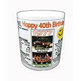 40TH BIRTHDAY MUG -1976- KEEPSAKE. PERSONALIZED WITH YOUR NAME by NWM-Gifts