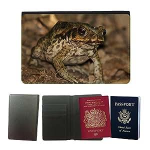 GoGoMobile Couverture de passeport // M00119197 Sapo de la rana del sapo del bastón de // Universal passport leather cover