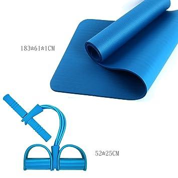 Lwyjd 10mm Sports Yoga Mat 183cmX61cm NBR Material Exercise ...