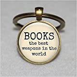 Best Asa Gifts For Lovers - Book Lover Keychain ,Book Lover Keychain,Books the Best Review
