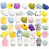 WATINC Random 30 Pcs Cute Animal Mochi Squishy, Kawaii Mini Soft Squeeze Toy,Fidget Hand Toy for Kids Gift,Stress Relief,Decoration, 30 Pack