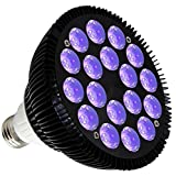 Tools & Hardware : KINGBO 36W LED Blacklight Bulb E26 PAR38 with 18x2W UV 395nm LEDs for Home Party, Stage Lighting, Fishing Aquarium, Metallic Black DJ Blacklights Ultraviolet Bulb Auto Lighting Voice Control For Party
