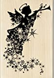Inkadinkado Silhouette Angel Trail Wood Stamp