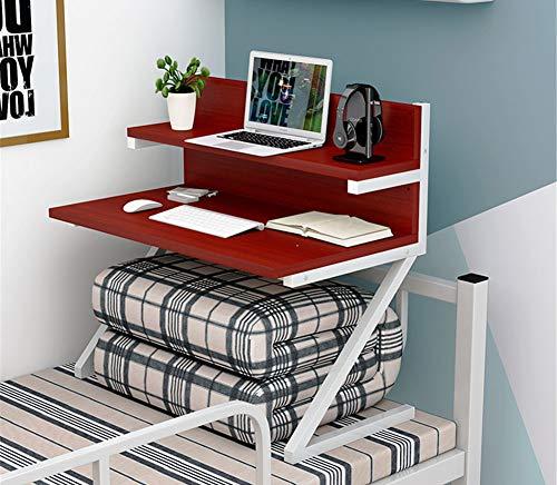 Exing Computadora Escritorio Mesa Simple Dormitorio Artefacto Colegio Cama con computadora Mesa Perezosa Mesa litera Superior...
