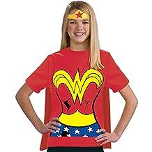 Rubies Costume Co (Canada) Justice League Child's Wonder Woman 100-Percent Cotton T-Shirt, Medium