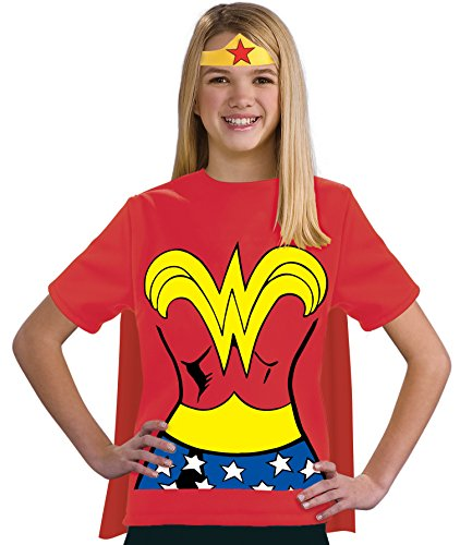 Justice League Child's Wonder Woman 100% Cotton T-Shirt - Medium]()
