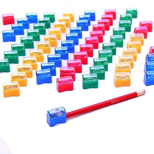 Dazzling Toys Plastic Pencil Sharpener Assortment -72 Pack (D029) Model: