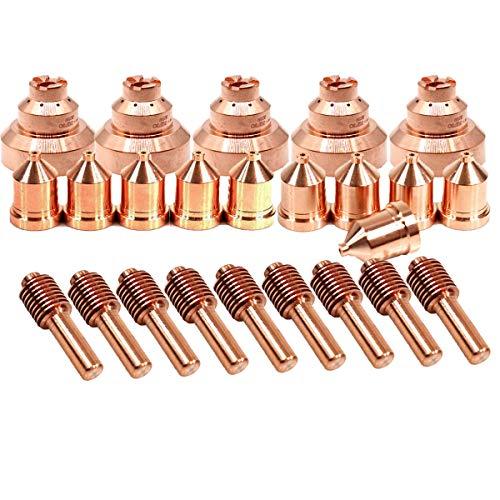 Plasma Torch Electrode Tip Drag Shield for Miller Spectrum 875 Cutter ICE-60T/TM 25pcs ()