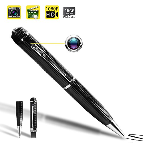 1080P HD Spy Pen Camera Mini Video Recorder with Photo Taking Function, 16GB Memory Card Built in by WISEUP