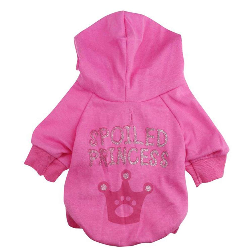 As shown M As shown M Huayue Cotton Hooded Snap Dog T-Shirt Hooded Clothes,Fashion pet T-Shirt (color   As Shown, Size   M)