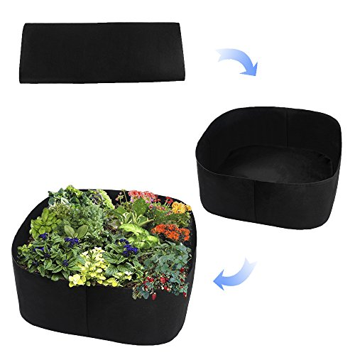 Xnferty Fabric Raised Garden Bed, 2x2 Feet Square Breathable Planting Container Grow Bag Planter Pot for Plants, Flowers, Vegetables (Black) by Xnferty (Image #1)