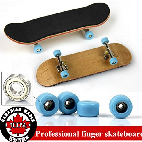 Abcgoodefg Professional Maple Complete Wooden Finger Skateboards With Alloy S.. 12
