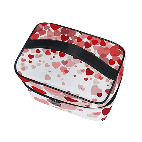 Makeup Bag Sweet Love Hearts Mens Travel Toiletry Bag Mens Cosmetic Bags for Women Fun Large Makeup Organizer by All agree (Image #3)