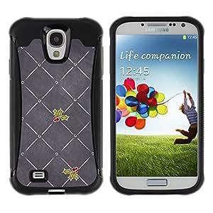 """Pulsar iFace Series Tpu silicona Carcasa Funda Case para Samsung Galaxy S4 IV I9500 , Gris Amor de la Navidad Muérdago"""""""