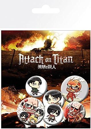 GB Eye LTD, Attack On Titan, Mix, Pack de Chapas: Amazon.es: Juguetes y juegos