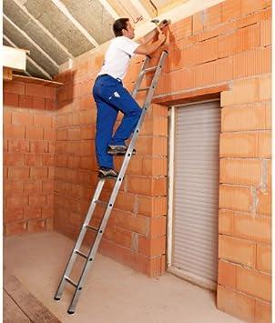 Escalera, acolchada, geriffelte peldaños, escalera Longitud 2,36 m, 8 peldaños, peso 4,0 kg: Amazon.es: Bricolaje y herramientas
