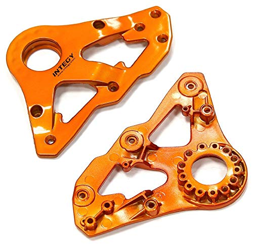 Integy RC Model Hop-ups C24939ORANGE Replacement Right Side Plastic Main Frame for Snowmobile & Sandmobile Conversion