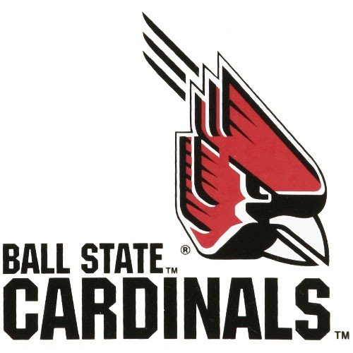 Rico Industries NCAA Ball State Cardinals Small Static Cling Decal