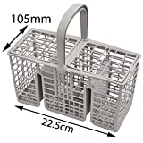 Spares2go 22.5cm Long Slim Cutlery Basket Cage for Hotpoint-Ariston Dishwashers
