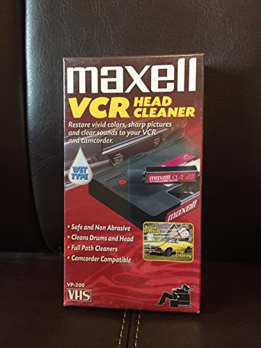 Maxell Vhs Head Cleaner Wet Type Non-Abrasive Safely Effectively Cleans Entire Path