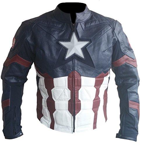 Ultron classyak moda de alta Real piel Capitán calidad Cow Blue chaqueta Hombre xYgw7rTqY