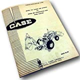 J I Case Model 23 Loader & Backhoe For 480 Ck Tractor Parts Catalog Manual A 986