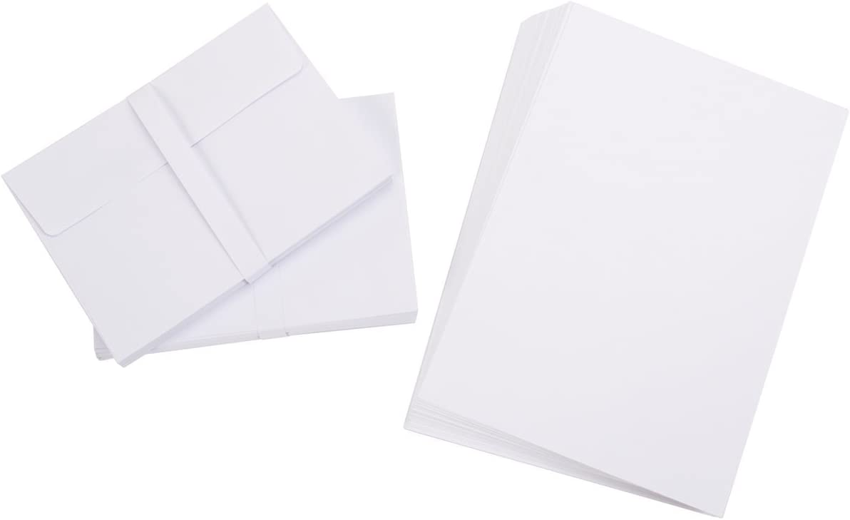 100 Cards per Pack Sale Economy Price Cards in Card Stock Material 5 1//2 X 7 Inch