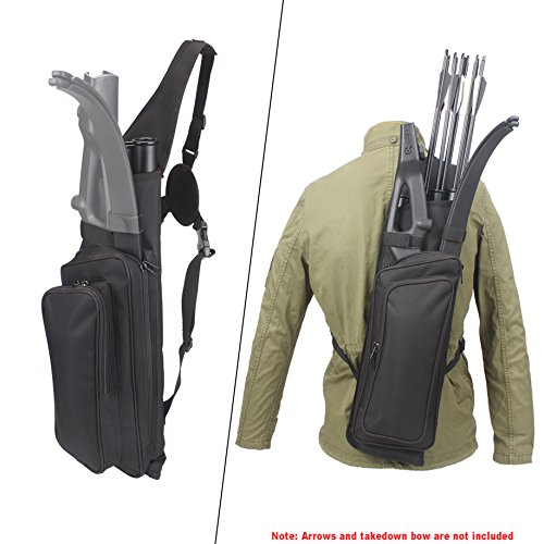AMYIPO Multi-use 4-Tubes Back Arrow Field Quiver Training Shooting Target Archery Quiver can Hold Takedown Bow