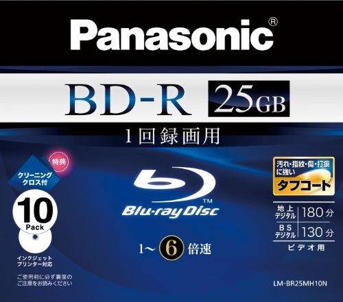 Panasonic Blu-ray Disc 10 Pack - 25GB 6X BD-R - 2010 Version