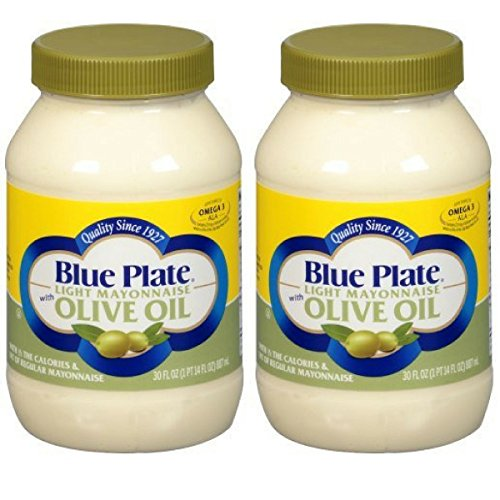 - Blue Plate Light Mayonnaise with Olive oil, 30 Ounce (2 Pack)