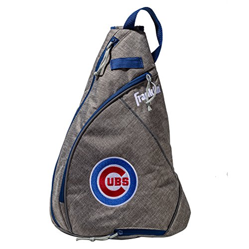 Franklin Sports Chicago Cubs Slingback Baseball Crossbody Bag - Shoulder Bag w/Embroidered Logos - MLB Official Licensed Product