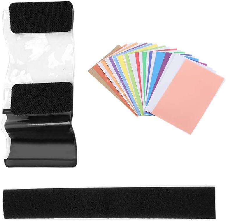 12pcs Universal Color Filters Lighting Filter Kit Gel Pop Up Filter Colorful Fliter for Camcorder LED Video Light