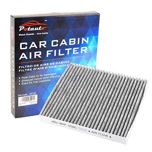 POTAUTO MAP 1039C (CF10729) Replacement Activated Carbon Car Cabin Air Filter for CHRYSLER, 200, Cirrus, Sebring, DODGE, Avenger, Caliber, Journey, JEEP, Compass, Patriot (Upgraded with Active Carbon) ()