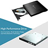 iClever External USB 3.0 DVD CD Drive, Portable DVD CD RW Rewriter Burner for Laptop Notebook PC Desktop Computer Support Mac OS, Win7/ 8/ 8.1/ 10/10.1 and Samsung S8/ S8 Plus