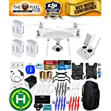 DJI Phantom 4 Advanced Drone MEGA Ready To Fly EXTREME ACCESSORY BUNDLE With 3 Batteires (Total), Vest Strap, Extra Props, Landing Pad, Filter Kit Plus Much More (Blue Pro II Backpack)