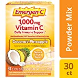 Emergen-C (30 Count, Coconut Pineapple Flavor) (Pack of 12) Dietary Supplement Fizzy Drink Mix with 1000mg Vitamin C, 0.32 Ounce Packets, Caffeine Free