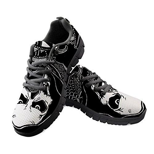 2 Skull Trainers IDEA Shoes Lightweight Skull Sport Lightweight Running Walking HUGS Pattern 4vXqwxPP