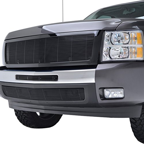 EAG Replecement Billet Grille and Centre Grille and Bumper Grille for 07-10 Chevrolet Silverado 1500