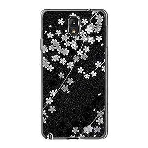 Samsung Galaxy Note 3 Ave18001Rmgy Support Personal Customs Nice Sakura Black Pattern Bumper Phone Case -JohnPrimeauMaurice