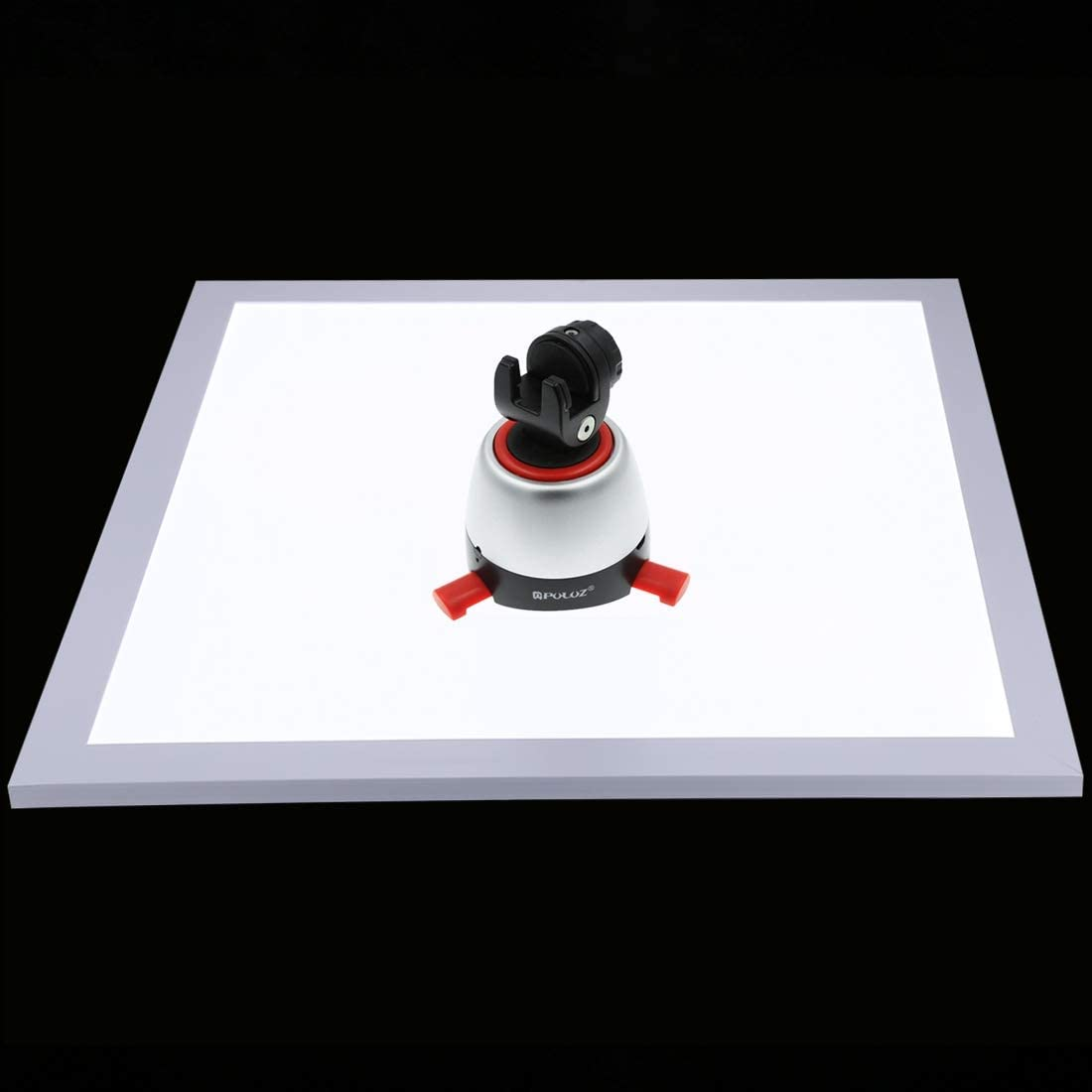 MOBILEACCESSORIES for TL 1200LM LED Photography Shadowless Light Lamp Panel Pad with Switch 34.7cm x 34.7cm Effective Area Photography Lights No Polar Dimming Light Acrylic Material