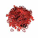 VWH Red Heart-shaped Wedding Confetti Spilled DIY Celebrations Party Supplies