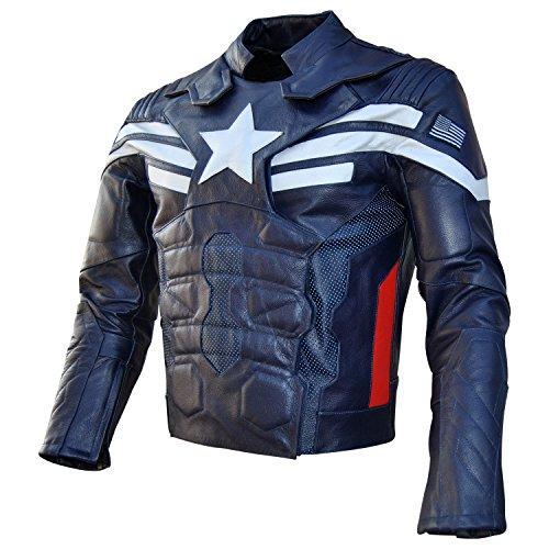 leather captain america jacket - 9
