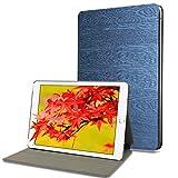 iPad 9.7 2018/2017, iPad Air 2, iPad Air Case with Auto Wake/Sleep Function, HBorna Multi-Angle Viewing Tree Texture Cover for Apple iPad 9.7 inch 5th / 6th Generation iPad Air1 / Air2, Dark Blue