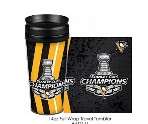Pittsburgh Penguins Stanley Cup Champions 14 Ounce Travel Mug Tumbler