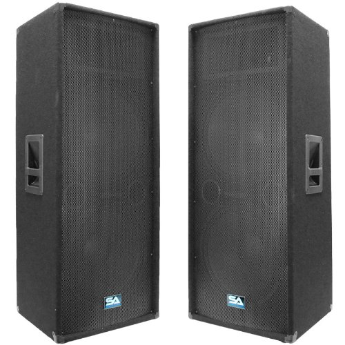"Seismic Audio Dual 15"" PA DJ SPEAKERS"