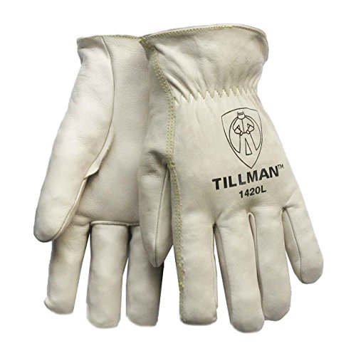 (Tillman 1420L Top Grain Cowhide Drivers Gloves - L)