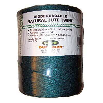 Librett Biodegradable Green Natural Jute Twine, 890 FT - 65oz - 3 Ply : Office Products