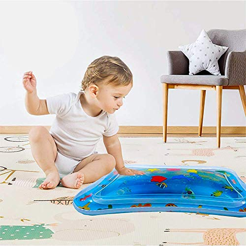 Raxoon Infants & Toddlers Tummy Time Water Mat, Perfect Toys for Your Baby's Stimulation and Growth by Raxoon (Image #1)